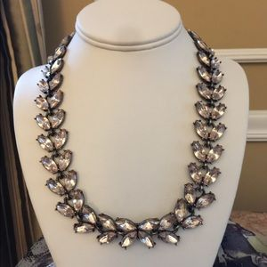 Baublebar Taupe Rhinestone Butterfly Necklace
